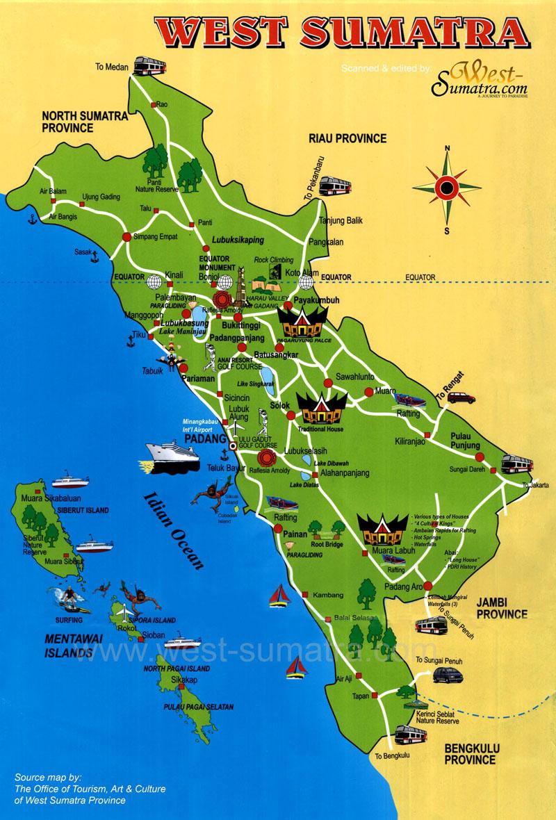 map sumatra barat